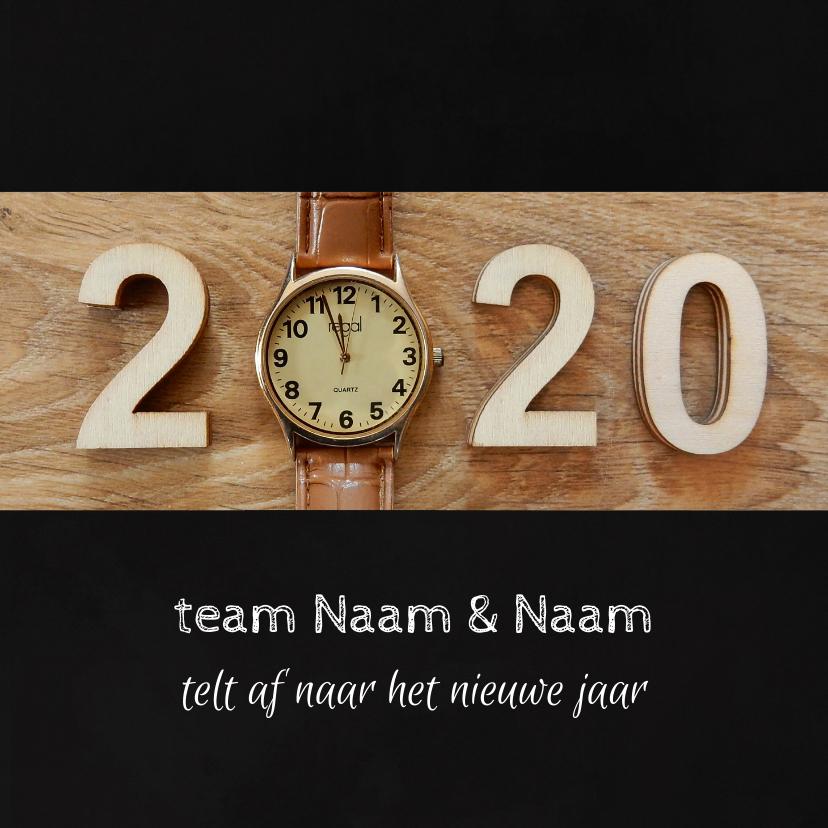 Zakelijke kerstkaarten - Zakelijke kerst horloge aftellen 2019 - 2020