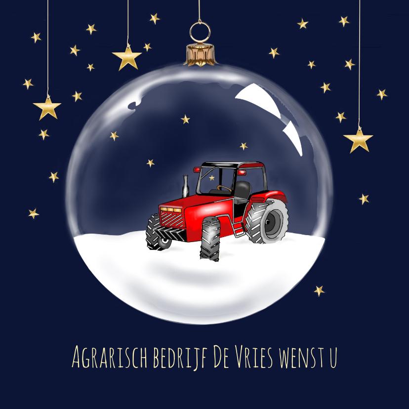 Zakelijke kerstkaarten - Zakelijke kerst - Kerstbal met tractor