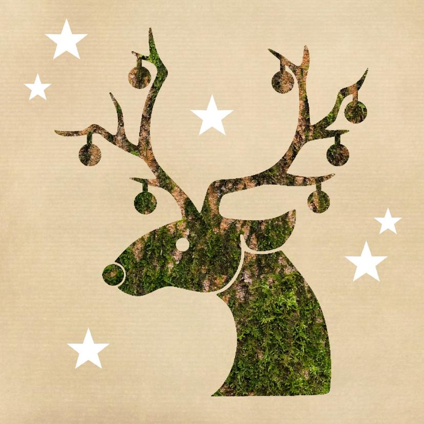 Zakelijke kerstkaarten - Zakelijke kerst natuur rendier