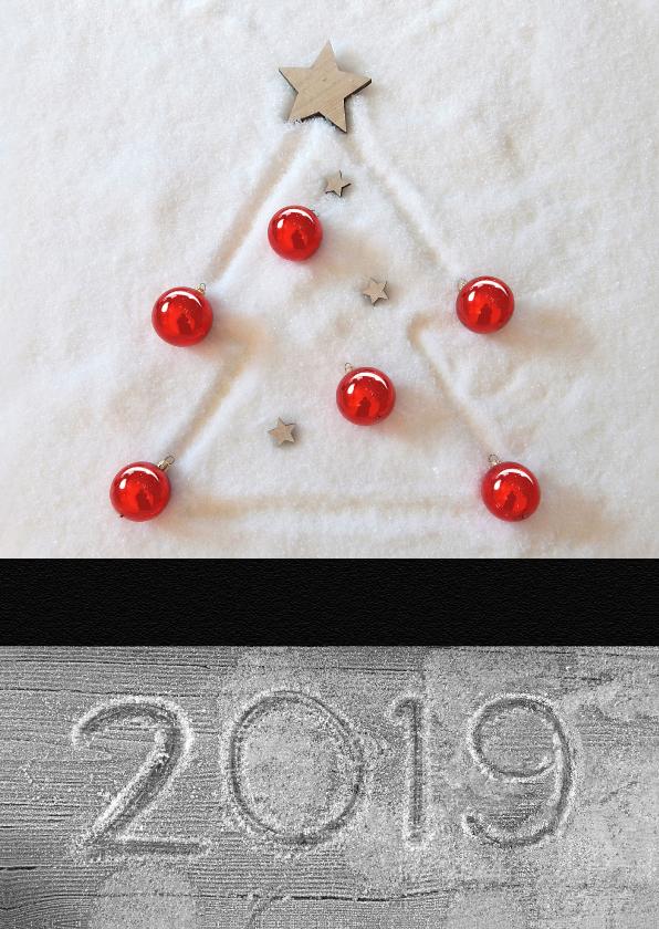 Zakelijke kerstkaarten - Zakelijke Kerst sneeuw boom