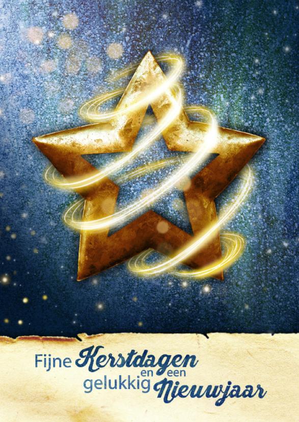 Zakelijke kerstkaarten - zakelijke kerst ster blauw YVON