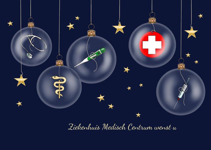 Zakelijke kerstkaarten - Zakelijke kerst - zorg kerstballen