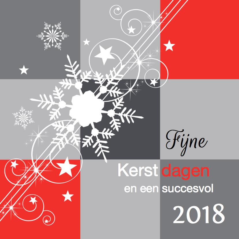 Zakelijke kerstkaarten - Zakelijke kerstkaart 2018 grijs rood - LB