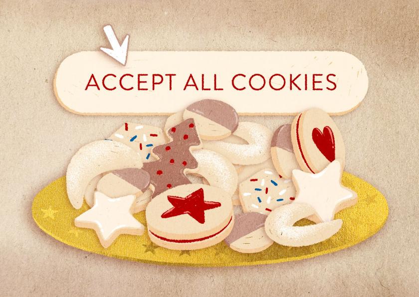 Zakelijke kerstkaarten - Zakelijke kerstkaart 'Accept all cookies'