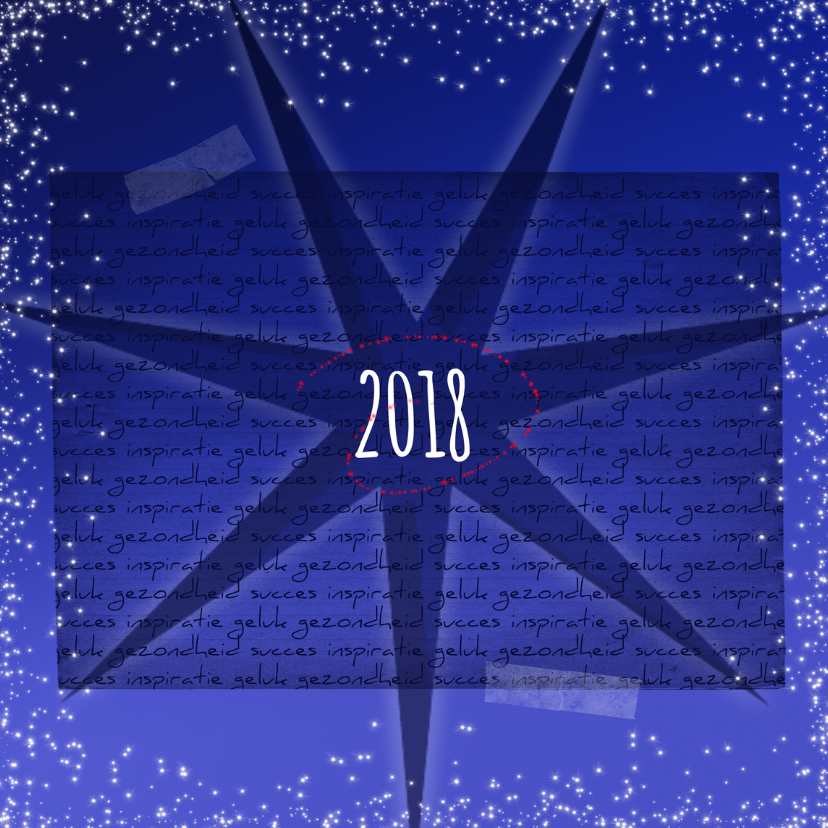 Zakelijke kerstkaarten - Zakelijke kerstkaart blauw 2018-IP