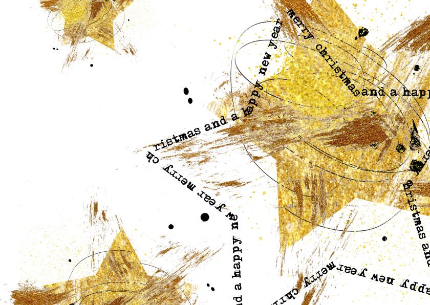 Zakelijke kerstkaarten - Zakelijke kerstkaart drie sterren goud