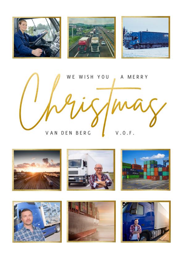 Zakelijke kerstkaarten - Zakelijke kerstkaart fotocollage Christmas internationaal