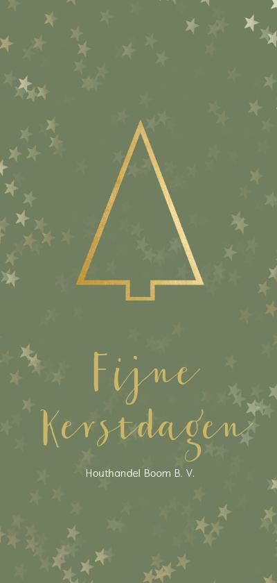 Zakelijke kerstkaarten -  Zakelijke kerstkaart gouden kerstboom - Een gouden kerst