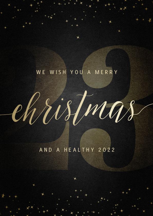 Zakelijke kerstkaarten - Zakelijke kerstkaart grote 22 met handgeschreven christmas