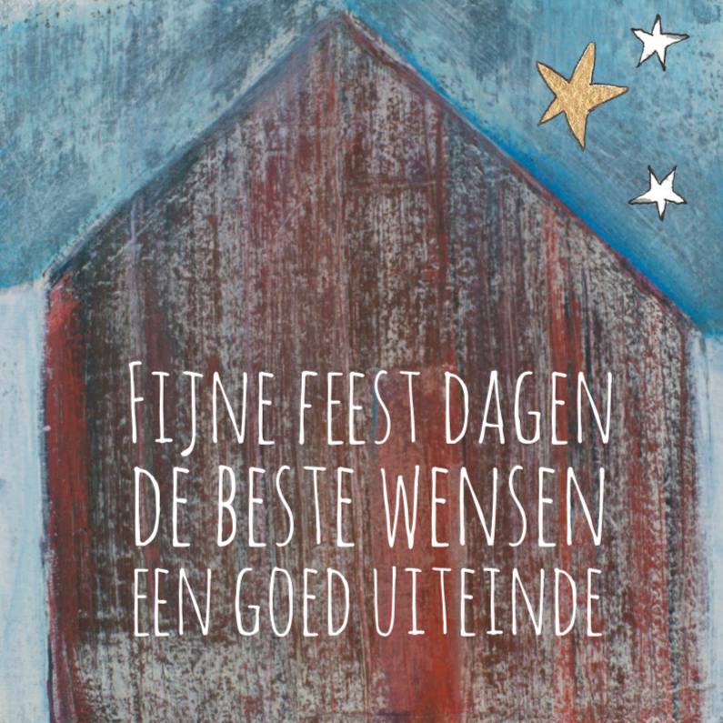 Zakelijke kerstkaarten - Zakelijke kerstkaart huis ster