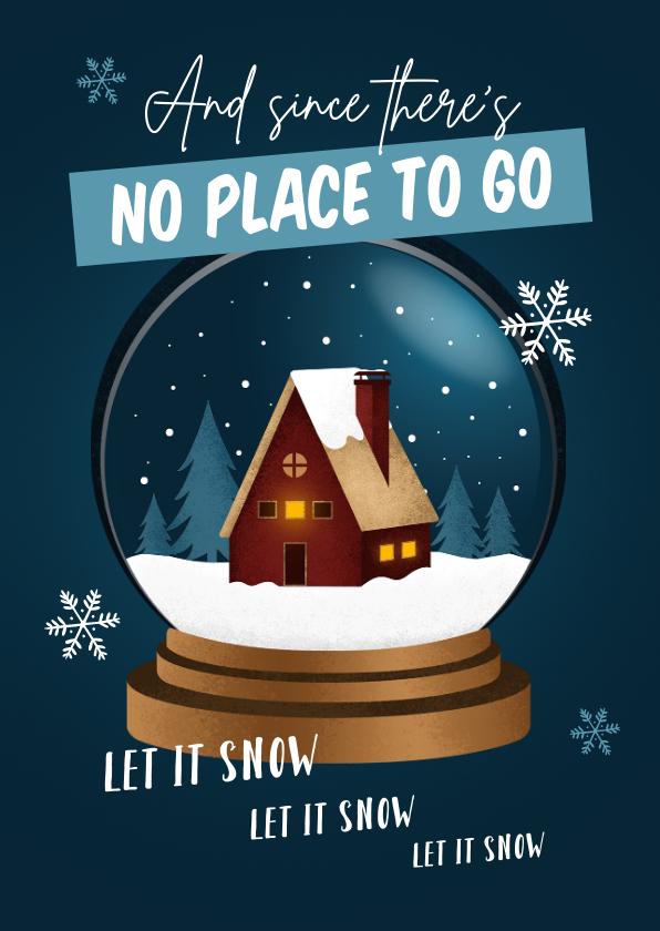 Zakelijke kerstkaarten - Zakelijke kerstkaart huis thuiswerken bedankt medewerkers