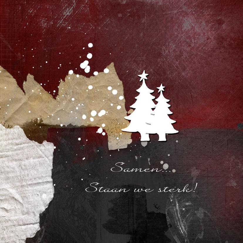 Zakelijke kerstkaarten - Zakelijke kerstkaart kerst abstracte bergen
