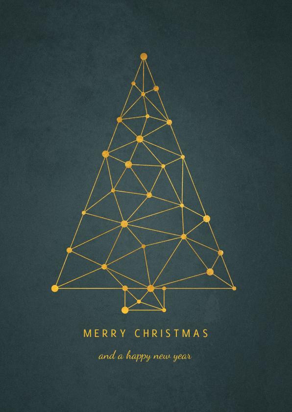 Zakelijke kerstkaarten - Zakelijke kerstkaart kerstboom connectie verbinding