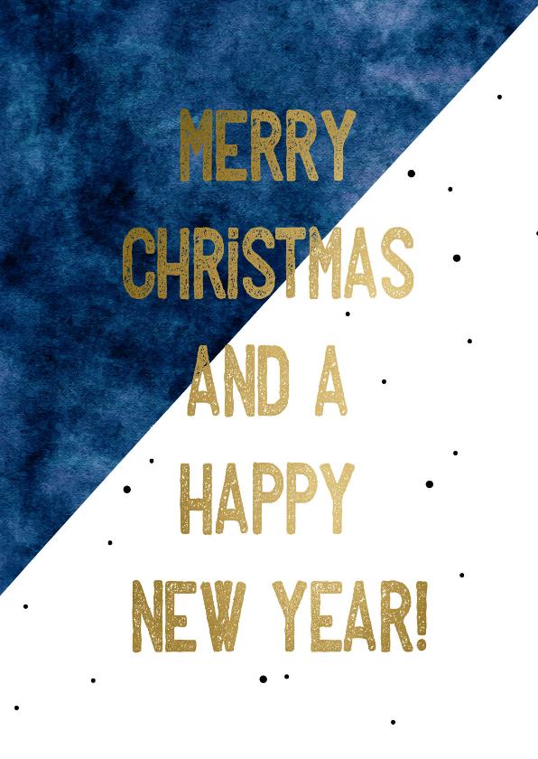 Zakelijke kerstkaarten - Zakelijke kerstkaart  Merry Christmas and a happy New year
