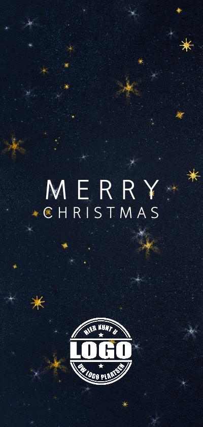 Zakelijke kerstkaarten - Zakelijke kerstkaart met logo en sterrenhemel