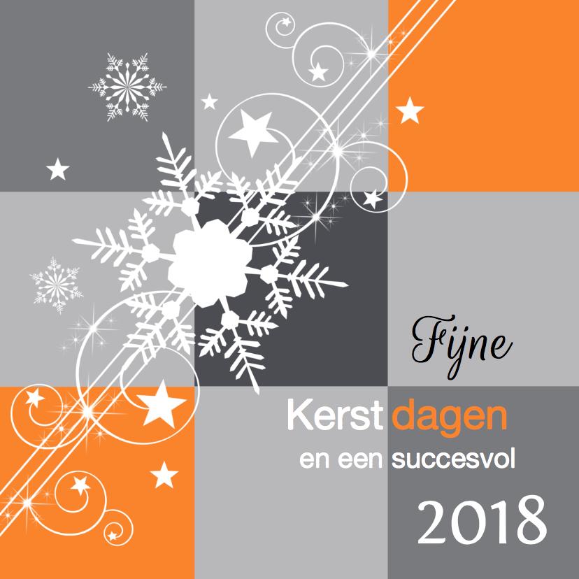 Zakelijke kerstkaarten - Zakelijke kerstkaart modern grijs oranje - LB