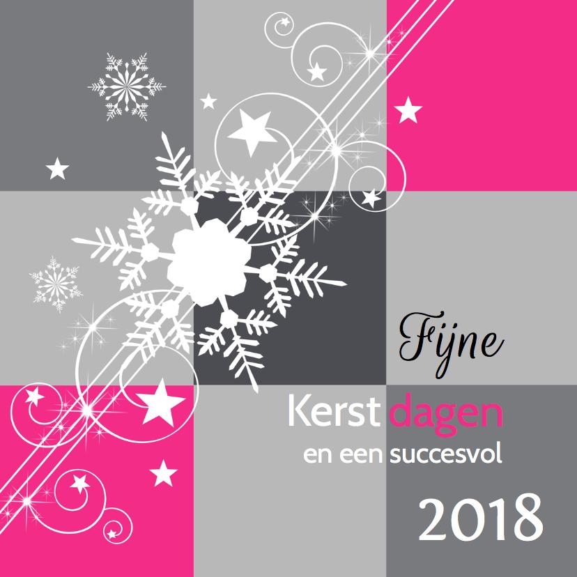 Zakelijke kerstkaarten - Zakelijke kerstkaart modern grijs roze - LB