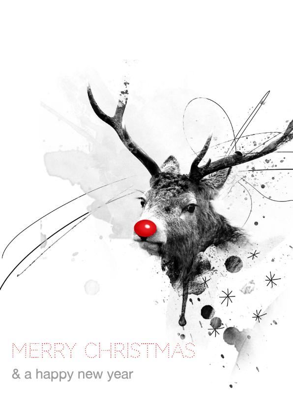 Zakelijke kerstkaarten - Zakelijke Kerstkaart Red Nosed