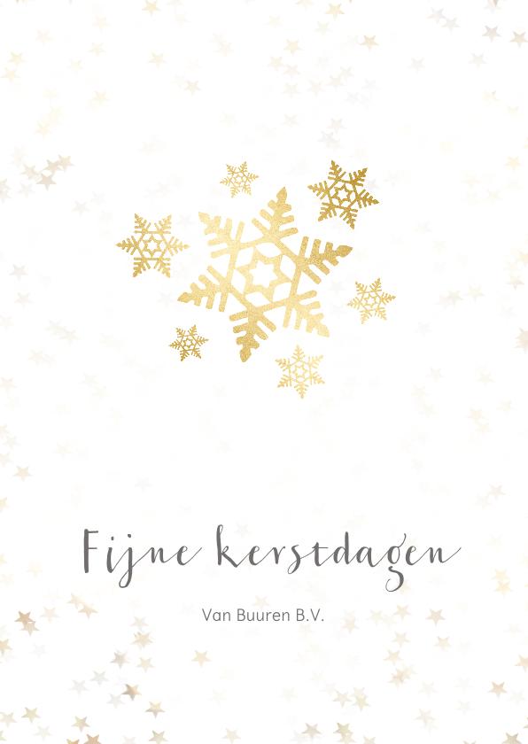 Zakelijke kerstkaarten - Zakelijke kerstkaart sneeuwvlok- Een gouden kerst