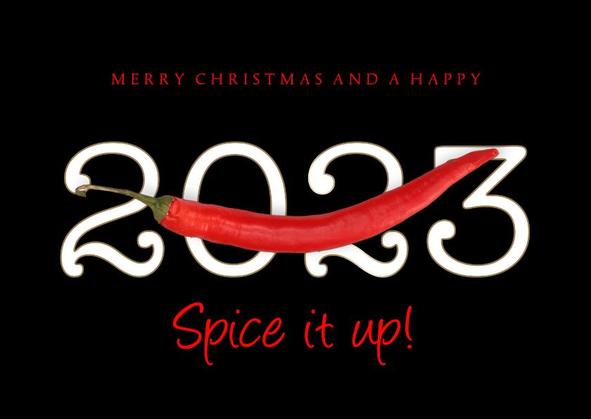 Zakelijke kerstkaarten - Zakelijke kerstkaart Spice it up