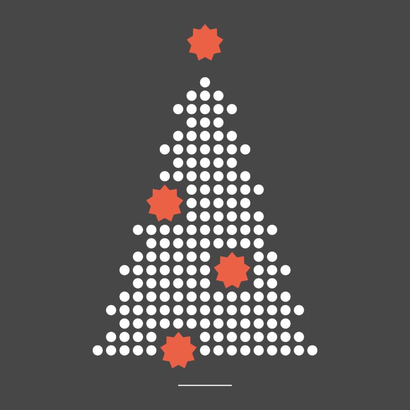 Zakelijke kerstkaarten - Zakelijke kerstkaart stippen boom