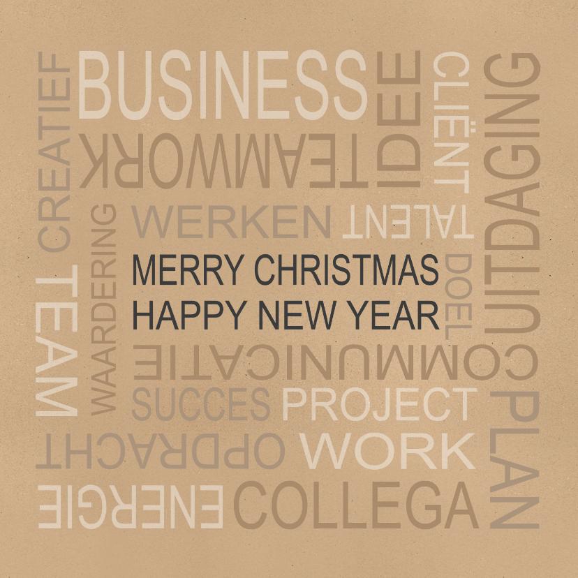 Zakelijke kerstkaarten - Zakelijke kerstkaart typogafie - BC