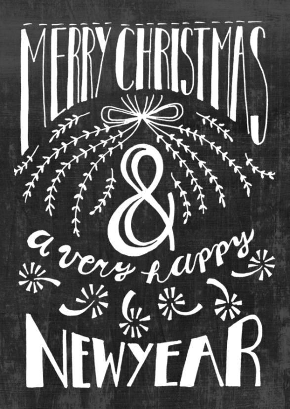 Zakelijke kerstkaarten - zakelijke kerstkaart typografie