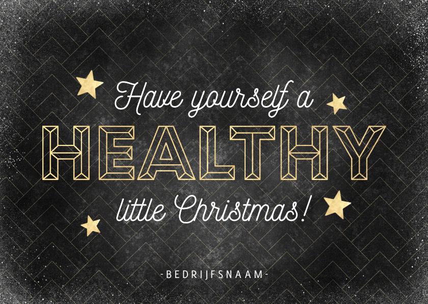 Zakelijke kerstkaarten - Zakelijke kerstkaart vintage patroon 'healthy Christmas'
