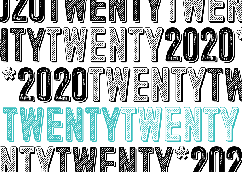 Zakelijke kerstkaarten - Zakelijke nieuwjaarskaart twentytwenty 2020