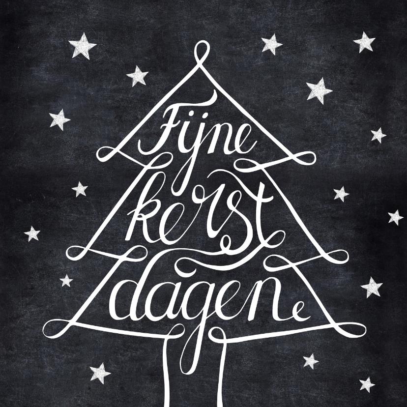 Zakelijke kerstkaarten - Zwartwit kerstkaart kerstboom