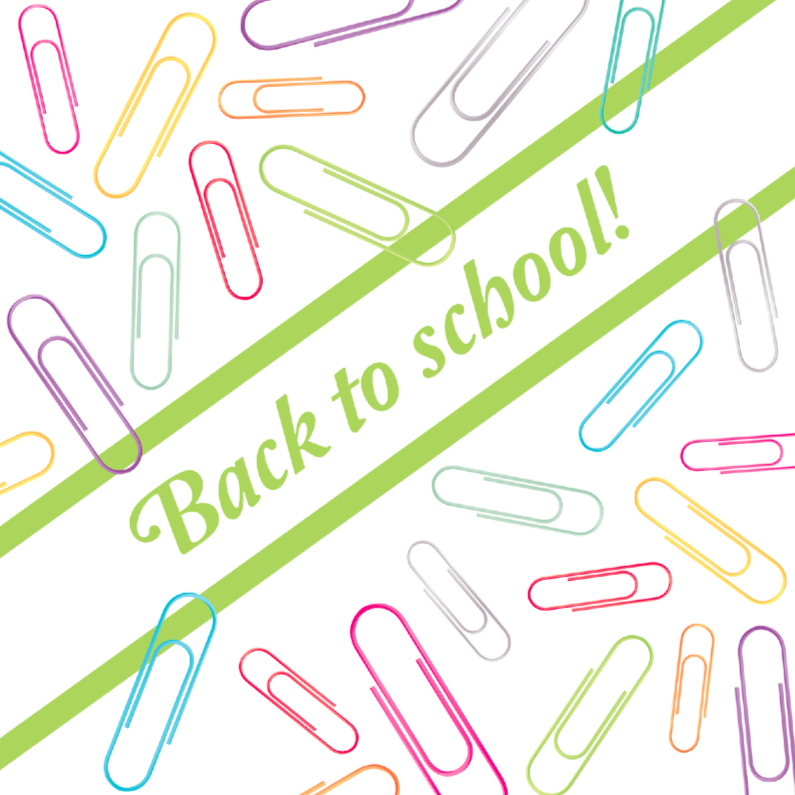 Zomaar kaarten - Back to school paperclips