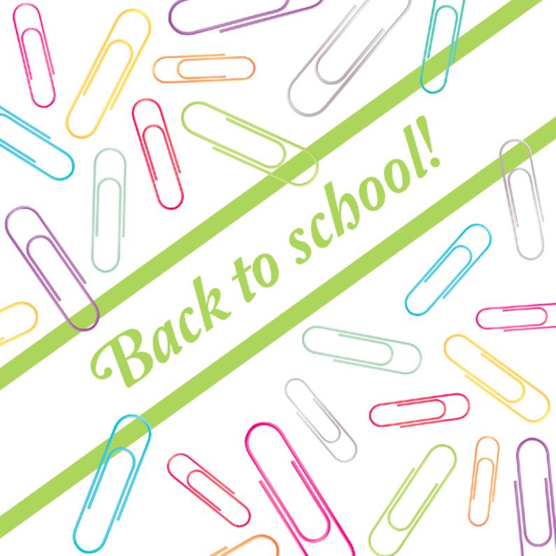 Zomaar kaarten - Back to school paperclips