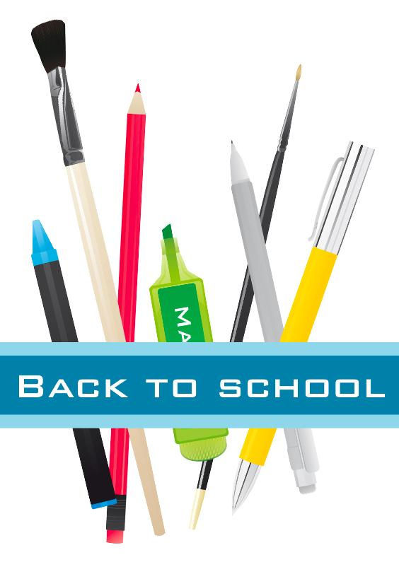 Zomaar kaarten - Back to school pennen