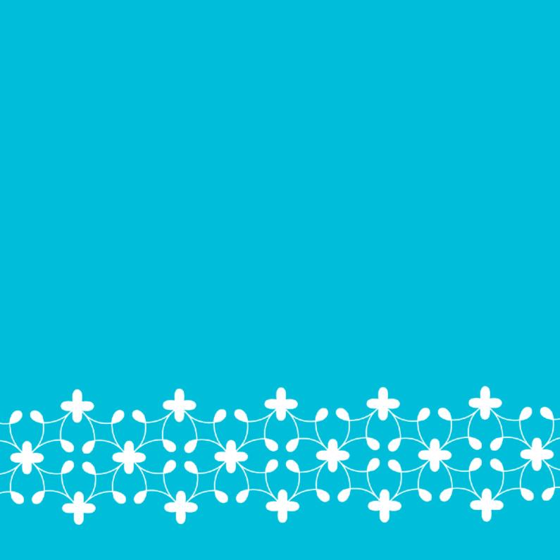 Zomaar kaarten - Bloemenrand blauw