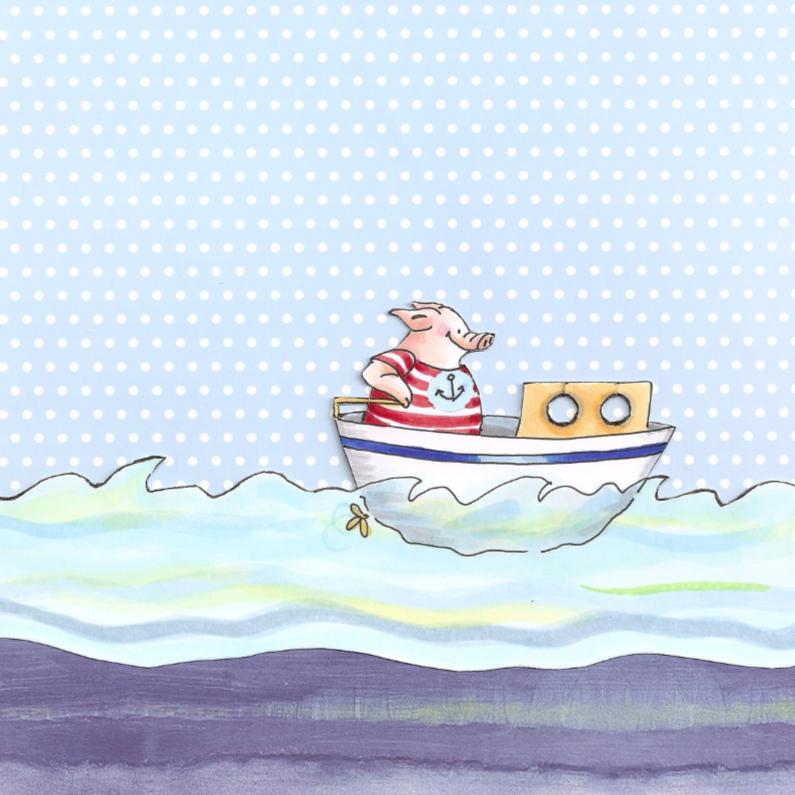 Zomaar kaarten - Bootje varen over zee