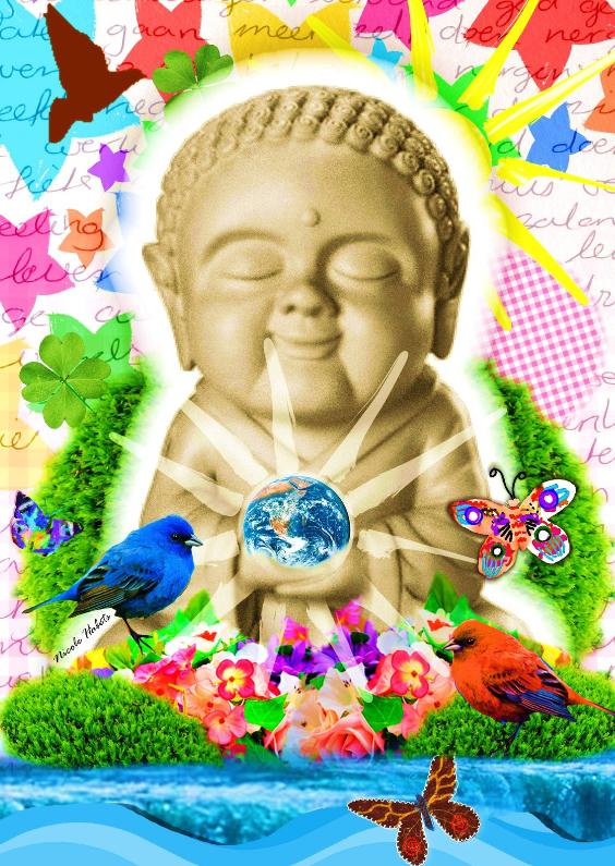 Zomaar kaarten - Buddha illustratie