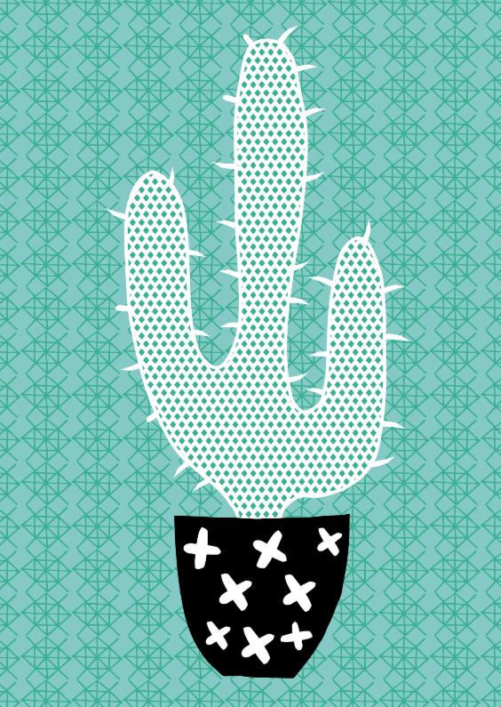 "Zomaar kaarten - Cactissimo ""Cactus turqoise"""