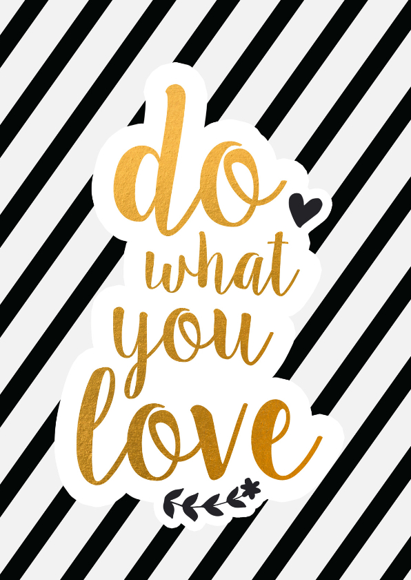 Zomaar kaarten - Coachingskaart do what you love