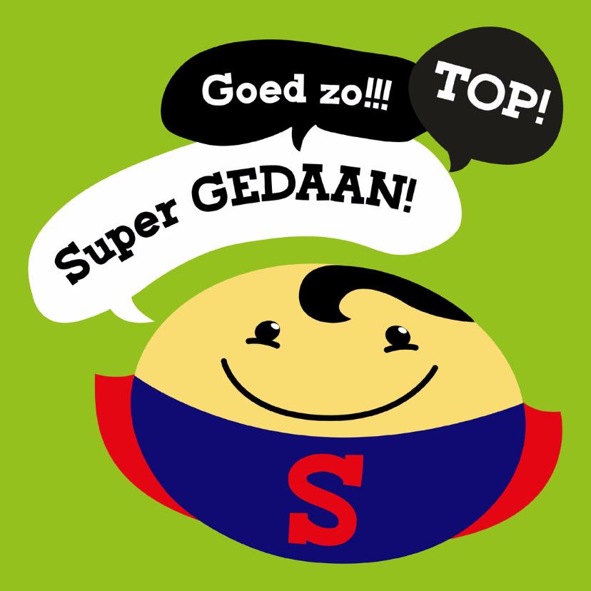 Zomaar kaarten - Coachingskaart smiley superman