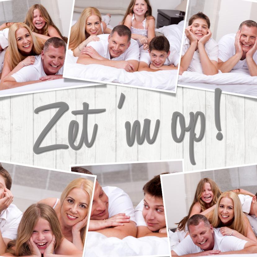 Zomaar kaarten - Collage 7 foto's Zet 'm op! - BK