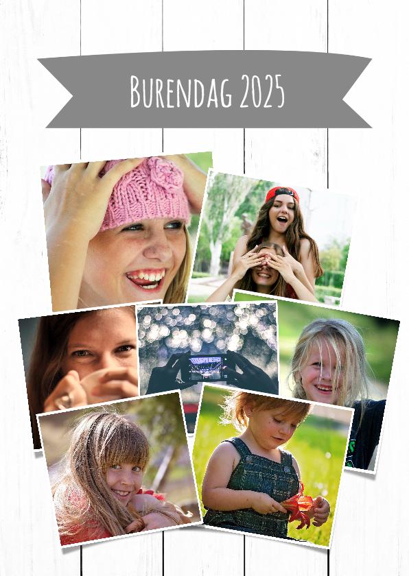 Zomaar kaarten - Collage kaart burendag - DH