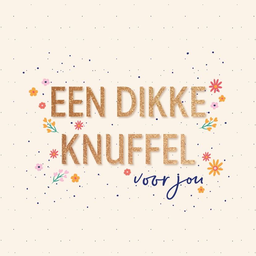 Zomaar kaarten - Dikke knuffel - flowers and dots - zomaar kaart