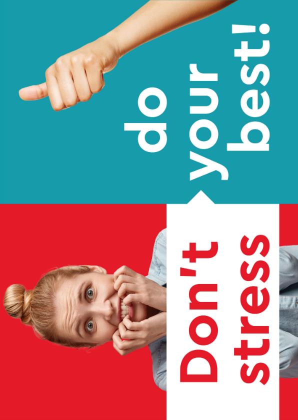 Zomaar kaarten - Don't stress, do your best!