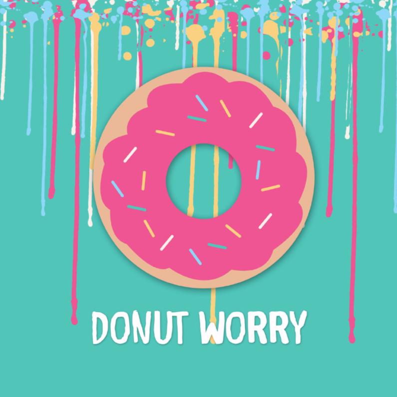 Zomaar kaarten - Donut worry - DH