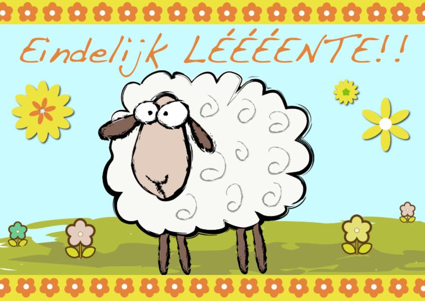Zomaar kaarten - eindelijk lente met schaap