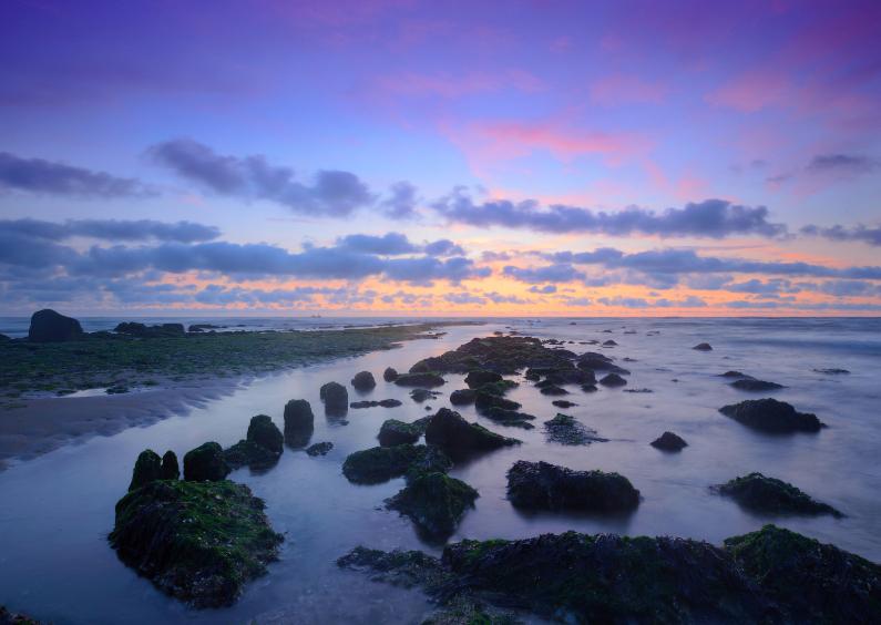 Zomaar kaarten - Golfbreker aan de Noordzee