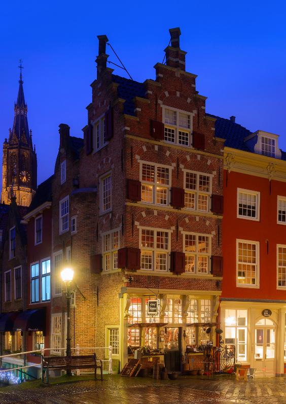 Zomaar kaarten - Grachtenpand in Delft
