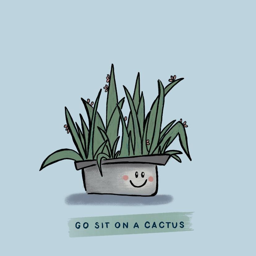 Zomaar kaarten - Grappige zomaar-kaart met lieve cactus