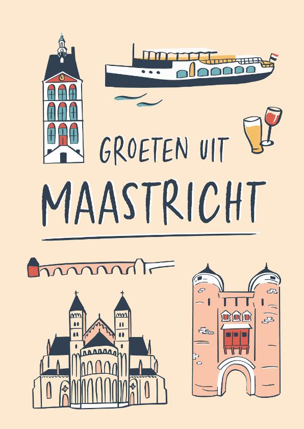 Zomaar kaarten - Groeten uit Maastricht gebouwen