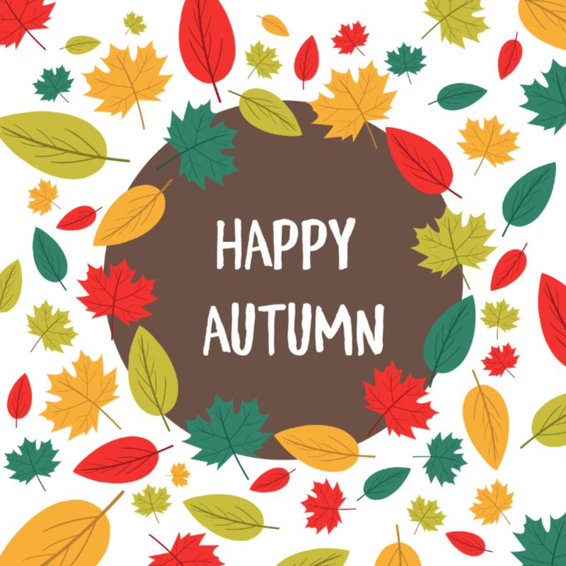 Zomaar kaarten - Happy Autumn - DH